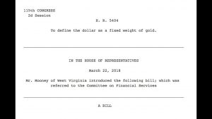 New Bill Would Bring Back the Gold Standard, Top Broker Analysis - H.R. 5404 , Collin Plume