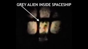 Incredible Footage of UFO in Backyard - Looks Like Greys Insdie a Spaceship - Look