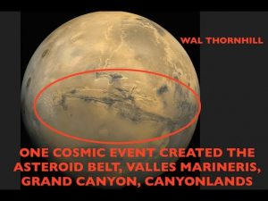 Single Cosmic Event Created Asteroid Belt, Valles Marineris & Grand Canyon