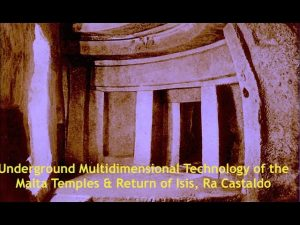 Multidimensional Technology of the Underground Malta Temples